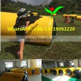Guangzhou inflatable 0.9mm PVC tarpaulin paintball bunker china paintball barrel