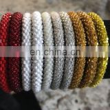 Glass Seed Bead Bracelet crochet handmade bangle