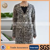 Leopard printed wholesale cashmere dress coat