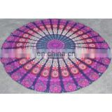 Hippie mandala dorm tapestry beach throw round table cover , yoga place mat