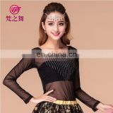 Long sleeves belly dance tops Sexy dance tops Western dance tops Belly dance practice top S-3071#