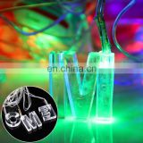 4m 20 LEDs Life Waterproof RGB Modeling String Lights Christmas Snowman Without End Joint and Controller, AC 110V-220V
