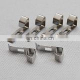 High quality stamping metal flat sheet flexible nickel plated customized steel pipe spring clip