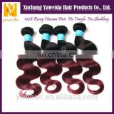 aliexpress ombre bundles 100% remy human hair extension loose virgin brazilian loose wave hair