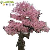6.7m Large Outdoor Fiberglass trunk Garden decoration Artificial Cherry Blossom Tree