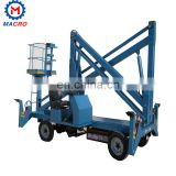 Articulated Towable Boom Lift Trailer Mounted Cherry Picker 10 Meter 12 Meters 14 Meters Man Lift For Sale