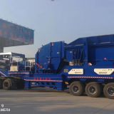 Mobile Station for Crushed Stone, Sand Making and Construction Waste
