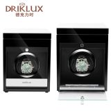 DRIKLUX Wooden Watch Winder Black Automatic Rotations Watch Shaker For Single Watch