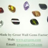 15x22mm cubic zirconia (CZ) twisted treasure