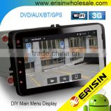 "Erisin ES2802V 8"" Android 4.4.4 Tiguan Double Din Car Radio with GPS WiFi Bluetooth"