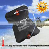 (24300) 20L hot sale black outdoor necessity camping hiking portable solar camp shower