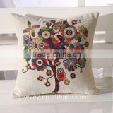 cheapest price made in china cat print linen square cushion cover