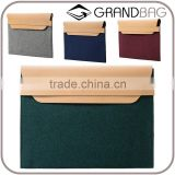 Bicolor suede envelope clutch bags textured new design with leather trim clutch with front lapel.