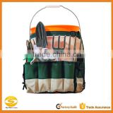 OEM polyester Bucket Garden Tool Organizer,ladies green garden tool organizer bag,green canvas garden tool bag