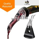 Hawk Wine Aerating Pourer Set - Better Bouquet, Enhanced Flavours, Snoother Finish