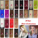 Miss U Hair Factory Price Synthetic Hair Extensions Long Straight 5 Clips In Hair Pieces Accessories