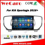 Wecaro 10.2 inch android 4.4/5.1 touch screen for kia sportage car dvd gps navigation system 2016 + With Wifi and 3G Radio RDS                                                                         Quality Choice