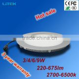 Round ultra slim led panel lights 9W Longer lifespan, lower cost for office store cheap price