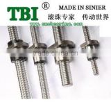 TBI brand precision cnc machine ball screw SFU2004 1000mm for cnc machine sell USD12.99/PC