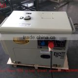 High quality AC Three Phase 7KVA silent air-cooled diesel power generator set