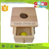 Montessori Inflant Educational Toys/Montessori Wooden Materials Toddler Imbucare Box with Ball/Wood Toy For Kids