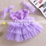 Hot-sales girl summer rose dress girls princess dresses children cute floral clothing baby skirt SD--7