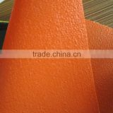 orange, green color polyester fabric pvc coated tarpaulin for truck cover and train waterproof plastic sheet cover