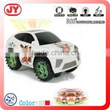 3D flashing light and music battery baby toy car