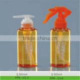 empty 150ml pet transparent trigger pump sprayer bottle (customised for your brand, logo and sticker)