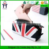 Custom printed zipper pencil case UK flag pen bag