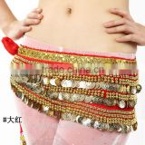 High Quality 388pcs Golden Coins Tribal Belly Dance Belt                                                                         Quality Choice