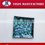 weddings wholesale home deco colored mosaic glass plates