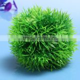 Hot Sale 2015 New Arrival Beautiful Aquarium Plastic Green Seaweed Moss Ball Decoration For Fish Tank