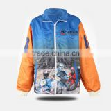 cheap polyester rain jacket/custom team baseball jacket fabric