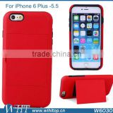 "Candy Color Hybrid TPU/PC Case For iPhone 6 Plus, Hard Case ID Credit Card Holder For iPhone 6 Plus 5.5"" (2014 Version)"