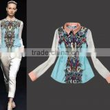 Stock available fashion design lady blouse transformers shirts for women BU006                                                                         Quality Choice