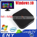Wintel tv boxIntel Bay Trail-T CR upto 1.83GHz Atom Z3735F Intel HD Graphic 2GB/32GB Windows10 tv box Dual system android tv box