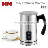 New UK Stainless Steel Cordless Electric Milk Frother & Warmer For Coffee Foam Maker Cappuccino , Model N3