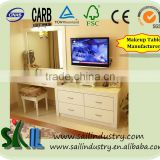 Wooden Dressing Cabinet with Mirror/Make up Table, living room furniture