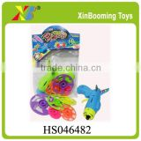 Hot selling promotion gift plastic flying disc gun with EN71/HR4040/ASTM