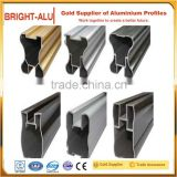 Quality assured aluminum extrusion profiles of light railway aluminium profile corner joint