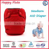 cloth diaper happy flute newborn aio reusable washable diapers charcoal bamboo inserts china supplier                                                                         Quality Choice