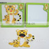 New design wooden magnetic cartoon tiger puzzle,Educational toy puzzle game for kid