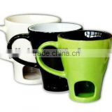 solid color promotion chocolate fondue mug set