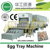 Paper Product Making Machinery 8 forming platens 3000pcs/hr paper pulp egg tray production line HGHY XZ8-16040-E3000B1C