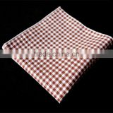 High Quality Chambray Denim Cotton Linen Pocket Square Bandana Handkerchief