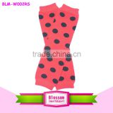 Newborn wholesale baby leg warmers red black polka dots multiple knitting leg warmers for kid