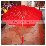 Red Heart Umbrella Best Love Gift for Wedding and Lovers Stick Heart Shape long-handle Umbrella