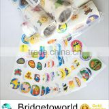 Private Label Custom Waterproof Adhesive Cartoon Stickers Printing Roll Adhesive Paper roll sheet
