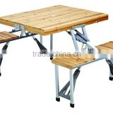 portable folding wood picnic table and chairs set, wooden picnic table and bench